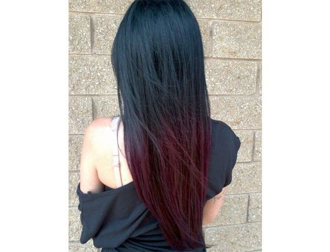 Black to Burgundy