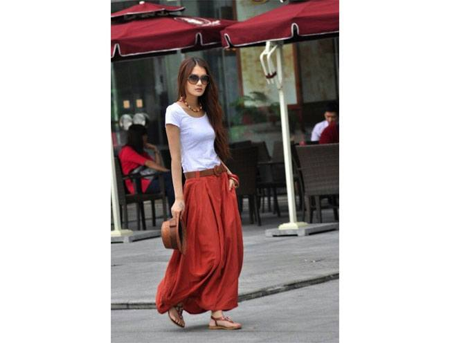 Break the myth and embrace maxi skirts