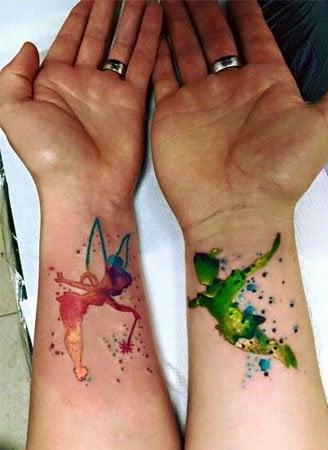 Cute Disney Couple Tattoo