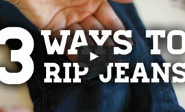 Ways to Rip your Old Jeans - DIY