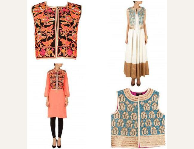 Embroidered jackets with Kurtas