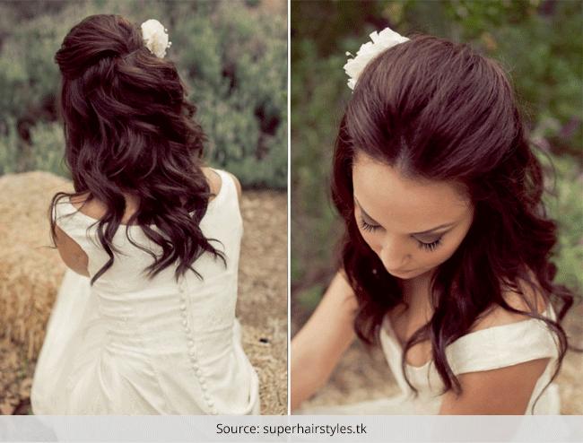 Prime Top 4 Half Up Half Down Wedding Hairstyles Short Hairstyles Gunalazisus