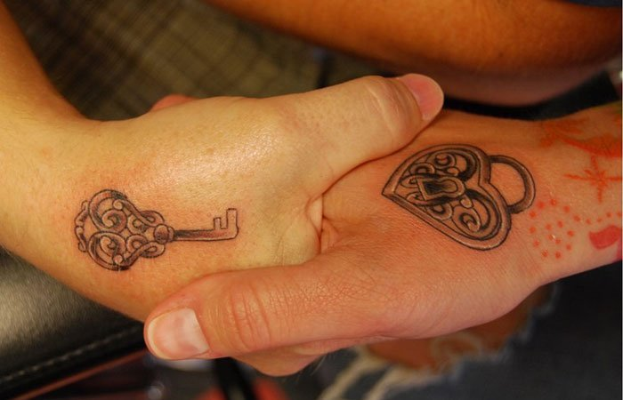 Intricate Couple Tattoo