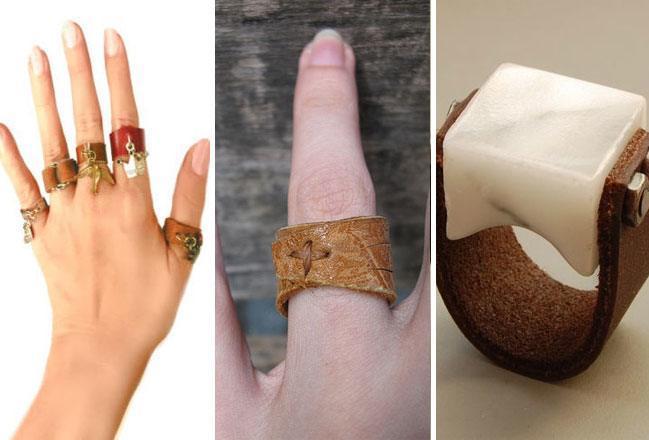 Leather Finger Rings