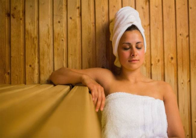 Limit the time and temperature in the sauna