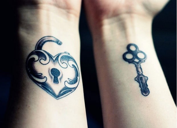 Lock And Key Tattoo On Inner Wrist