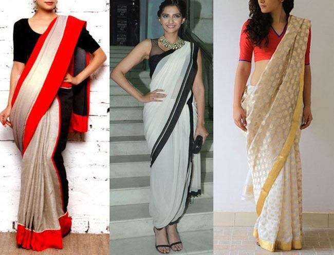 Look at the sarees and then at Sonam Kapoor
