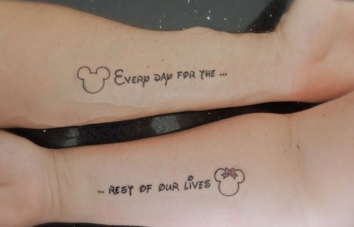 top 50 cute couple tattoo ideas. Black Bedroom Furniture Sets. Home Design Ideas