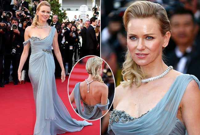 Naomi Watts partly plaited and bouffant ponytail