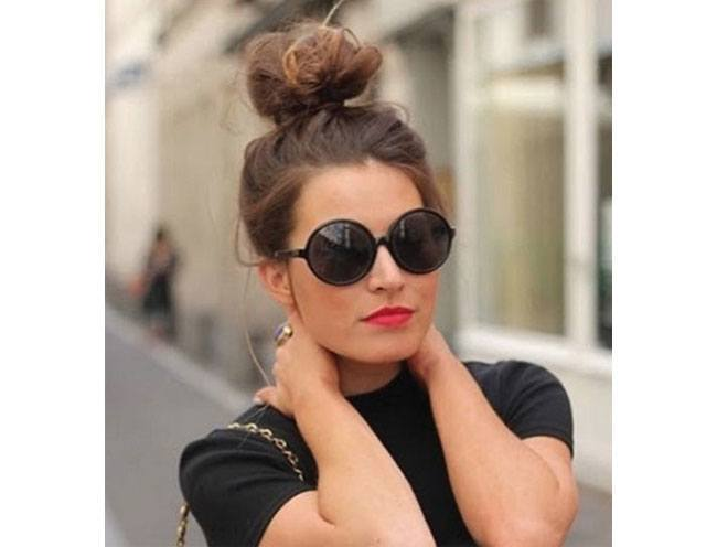 Rock a top knot fashion