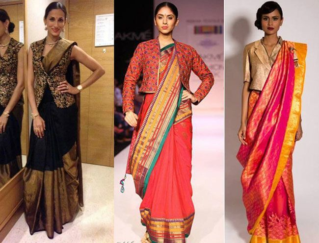 Short jacket on Sarees