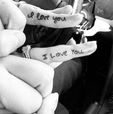 Simple Couple Tattoo