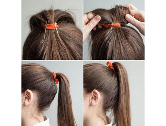 To lift up your ponytail