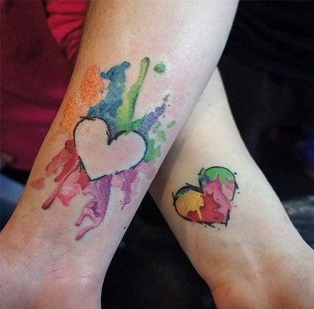 Watercolor Heart Tattoo