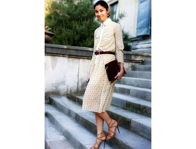 Wear heels according to your shirtdress length