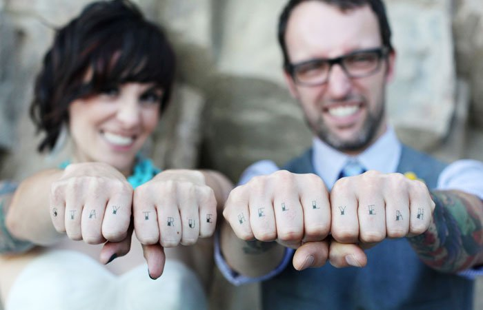 Worded Couple Tattoo