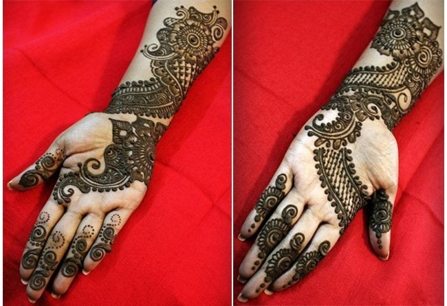 Mehndi Right Hand : Arabic mehndi design right hand makedes