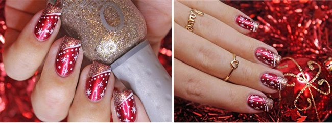 10 Breathtaking Christmas Nail Art Designs That Can Make Heads Turn