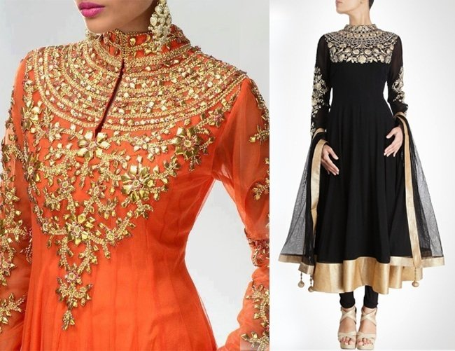 Closed Neckline Salwar Neck Design