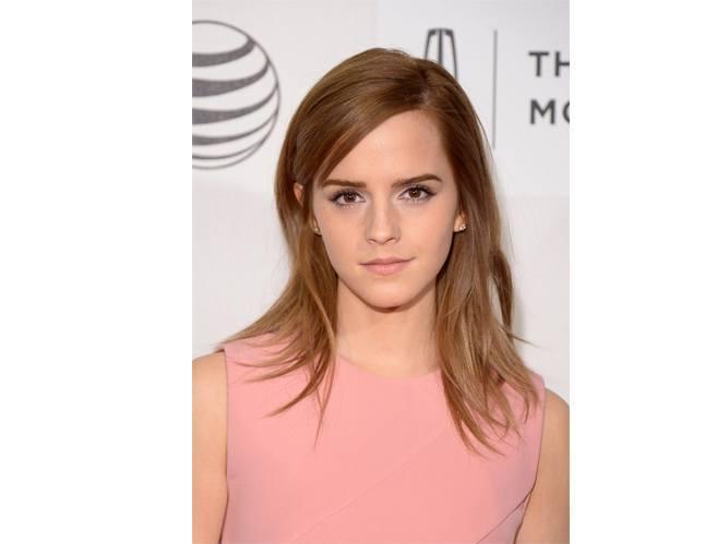 Emma Watson in Nude Lipstick