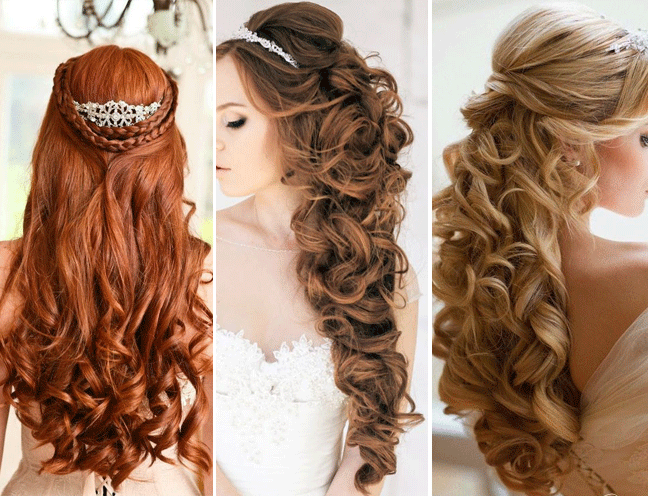 look at some more half up half down bridal hairstyles you could try