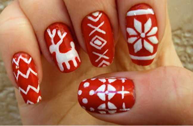 Top 10 christmas nail art designs for beginners