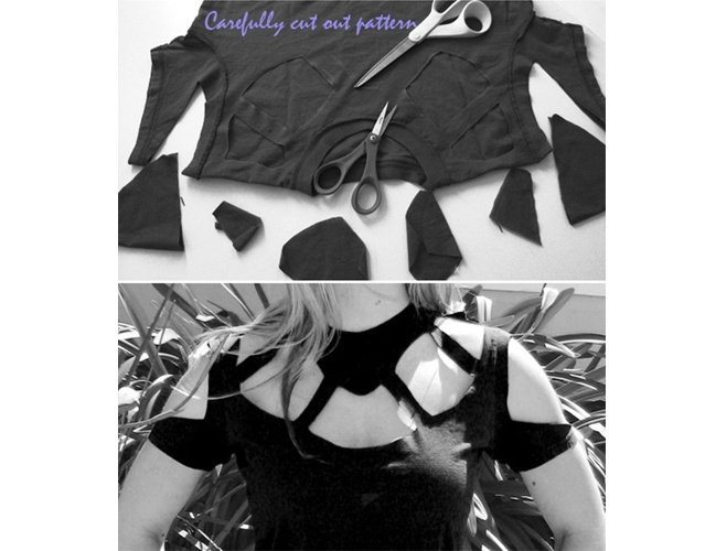 T Shirt Cutting Designs Ideas tshirtdiy23 T Shirt Cutting Designs Source Buzzfeedcom