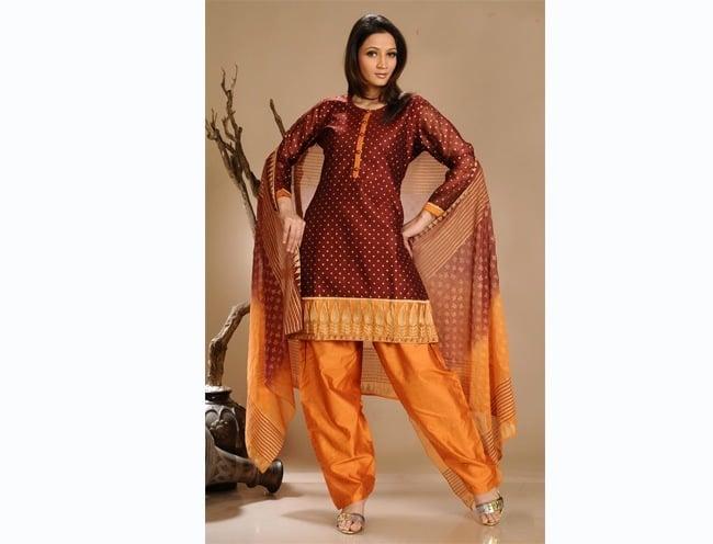 Round Neckline Salwar Design
