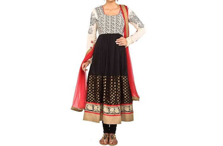 Salwar Square Neck Design