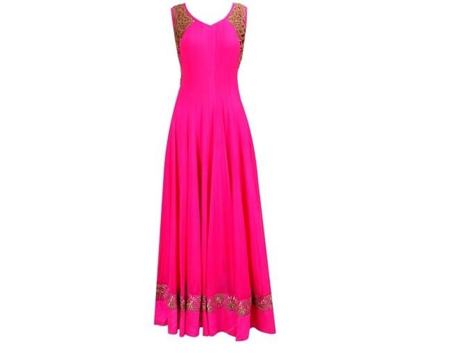 V-shaped Neckline Salwar Neck Design