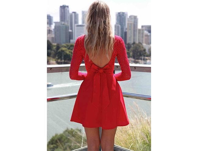 Bow Back Dress Is A Wardrobe