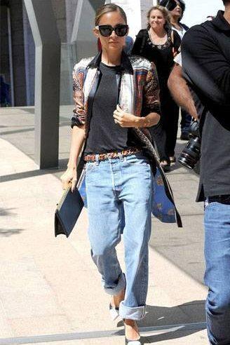Boyfriend jeans outfit 6