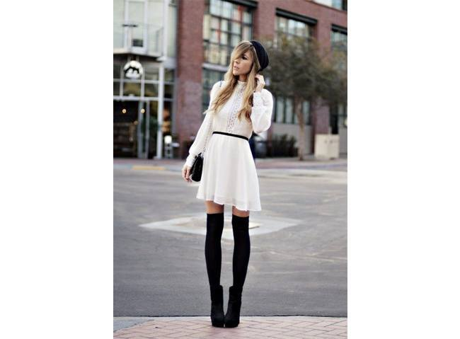 Dress for boots images