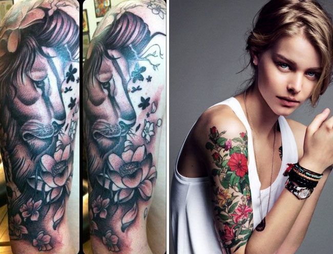 Half Sleeve Tattoos Designs for Girls