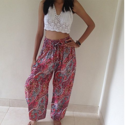 Harem Pants with Crop Top