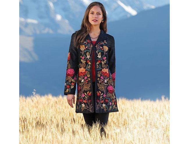 Himalayan Embroidered Silk Jacket