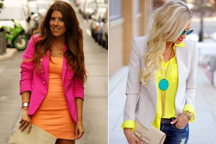 How To Wear Bright Coloured Blazers