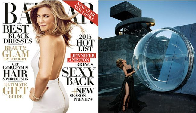 Jennifer Aniston Harper Bazaar December 2014