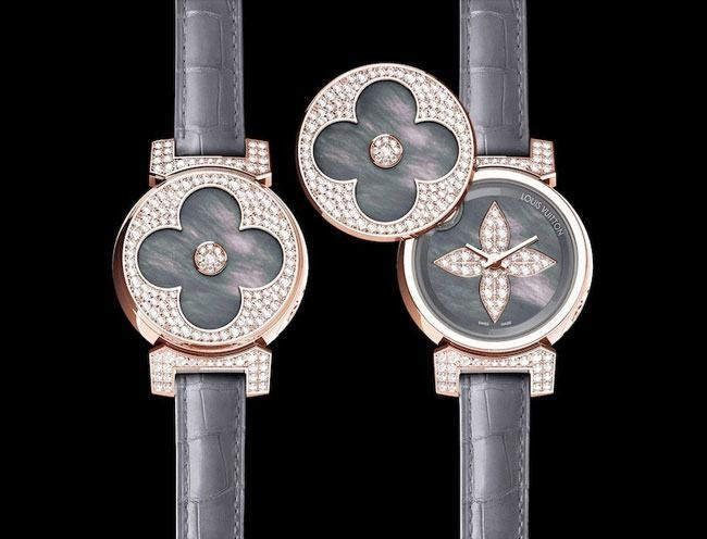 Louis Vuitton Tambour Bijou Secret Pink Gold Womens Watch