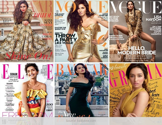 Magazine Covers Most Amazing Faces From Bollywood