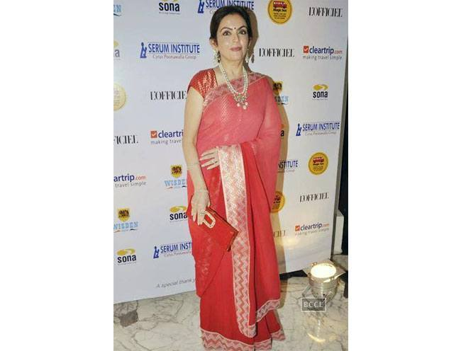 Nita Ambani during LOfficiels Magic Bus event held in Mumbai