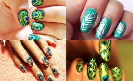Peacock Nail Art Designs