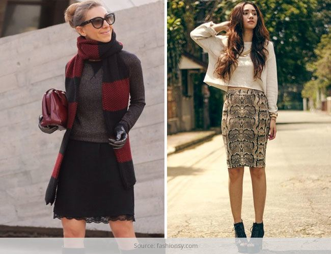 Style Skirts And Sweaters During Winter