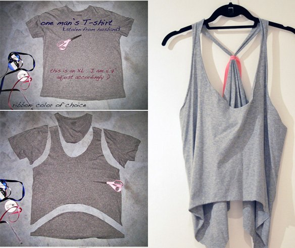 25 diy t shirt cutting ideas to try on your old outfits for Diy t shirt design
