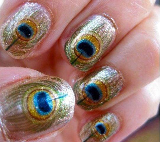 Peacock Nail Designs