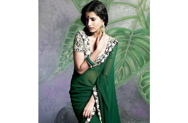 Green Color Saree Blouse Pattern