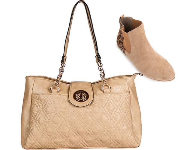 comfortable shoes and a chic bag