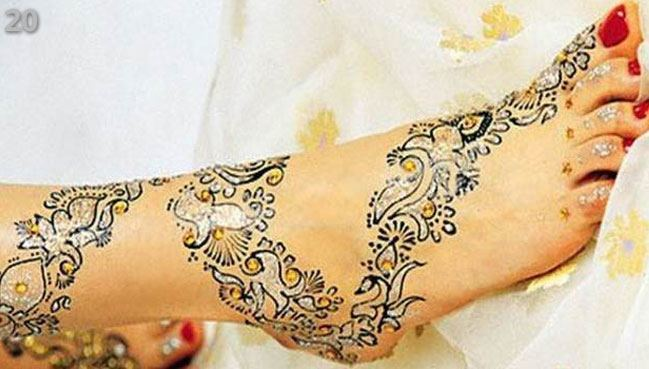 feet Marwari Mehndi