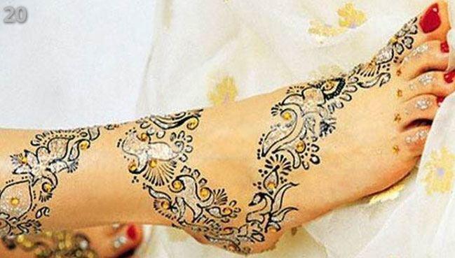 feet Marwari Mehndi