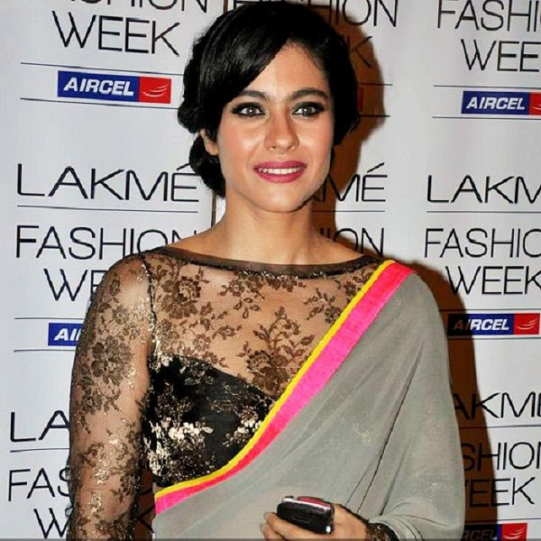 kajol transparent full sleeve blouse design